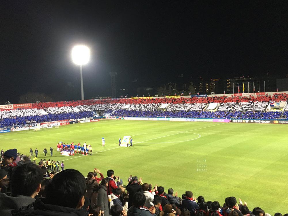 試合開始前の風景