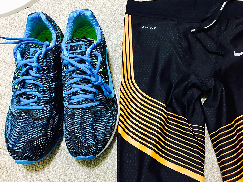 NIKE ZOOM STRUCTURE 18 and NIKE POWER SPEED TIGHTS